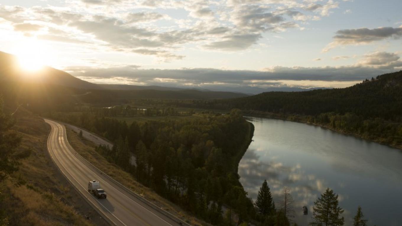 Highway 3 alongside the Kootenay River between British Columbia's Cranbrook and Fernie. – Kari Medig