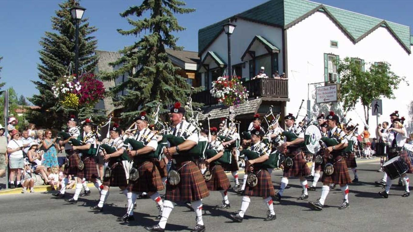 The Kimberley Pipe Band is always a part of the Julyfest parade.