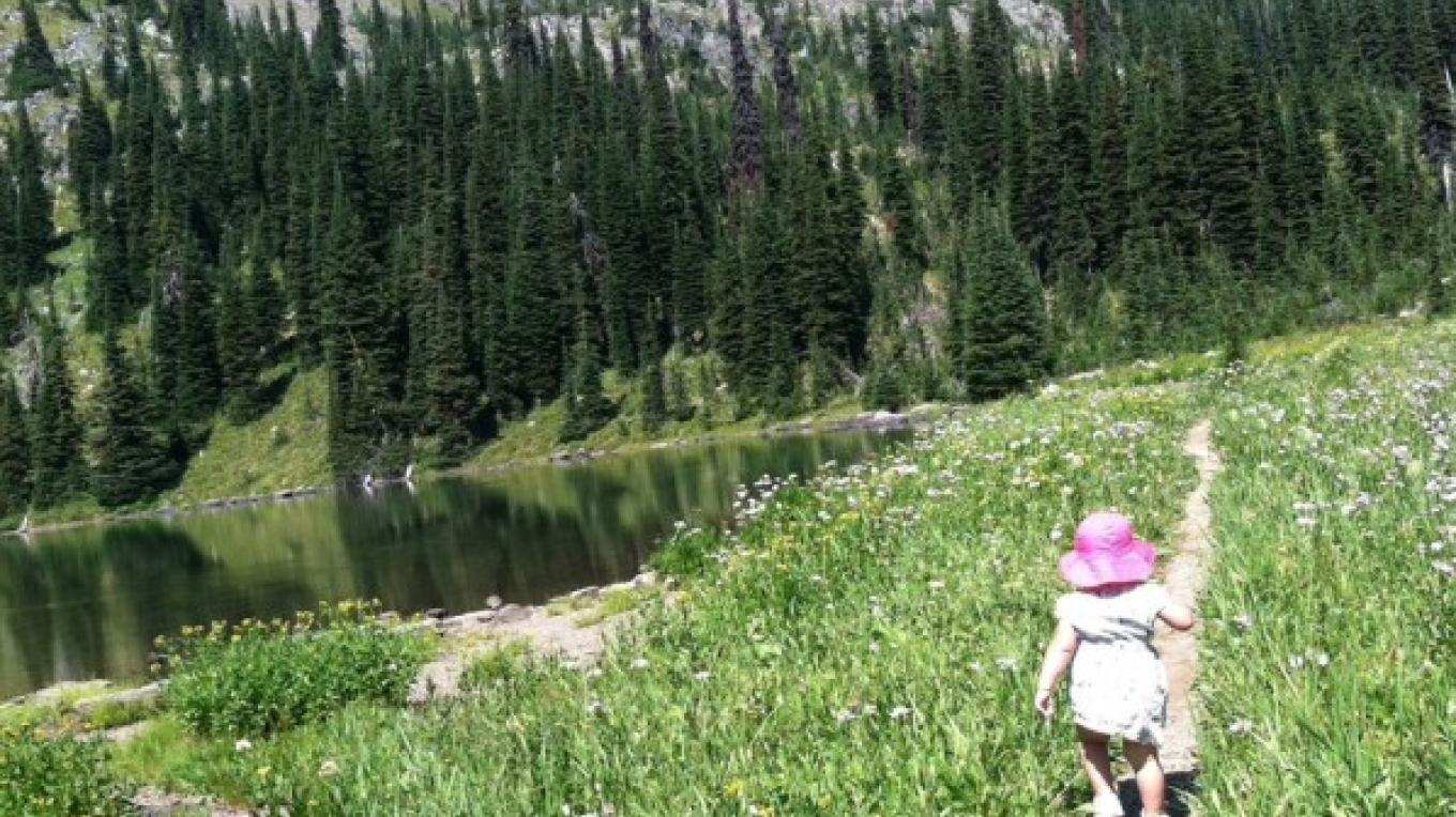 Little hikers enjoy this adventure too! Just getting to the lake. – Carrie Kaarre