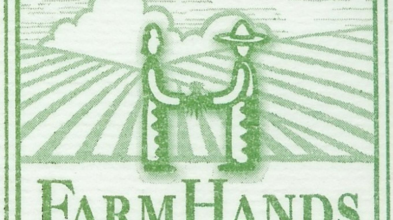 Farmhands logo and Motto: Connecting People with Working Lands