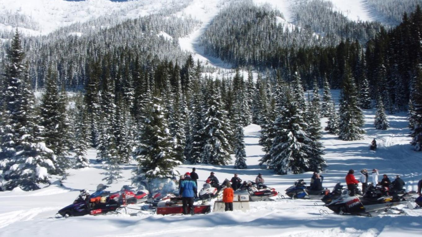 Winter Snowmobiling Adventure