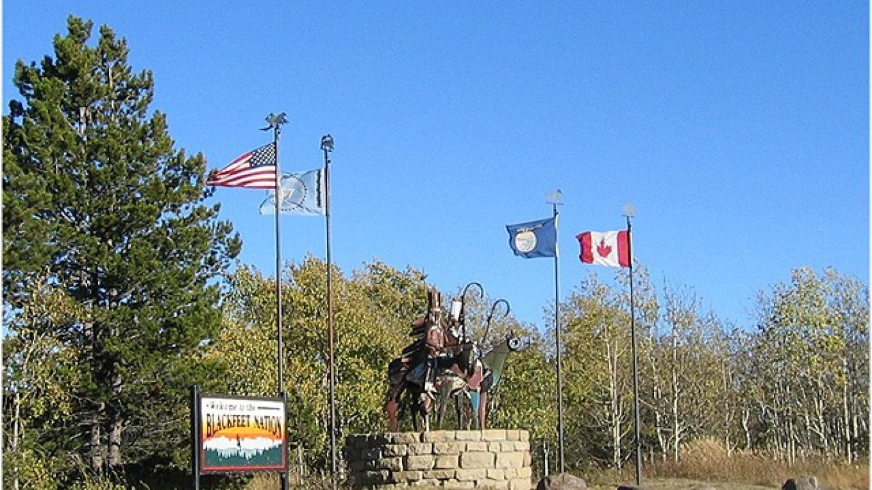 Metal Warrior sculpture located just outside of  East Glacier Park on Highway 2 – Colleen's Computer Corner, LLC