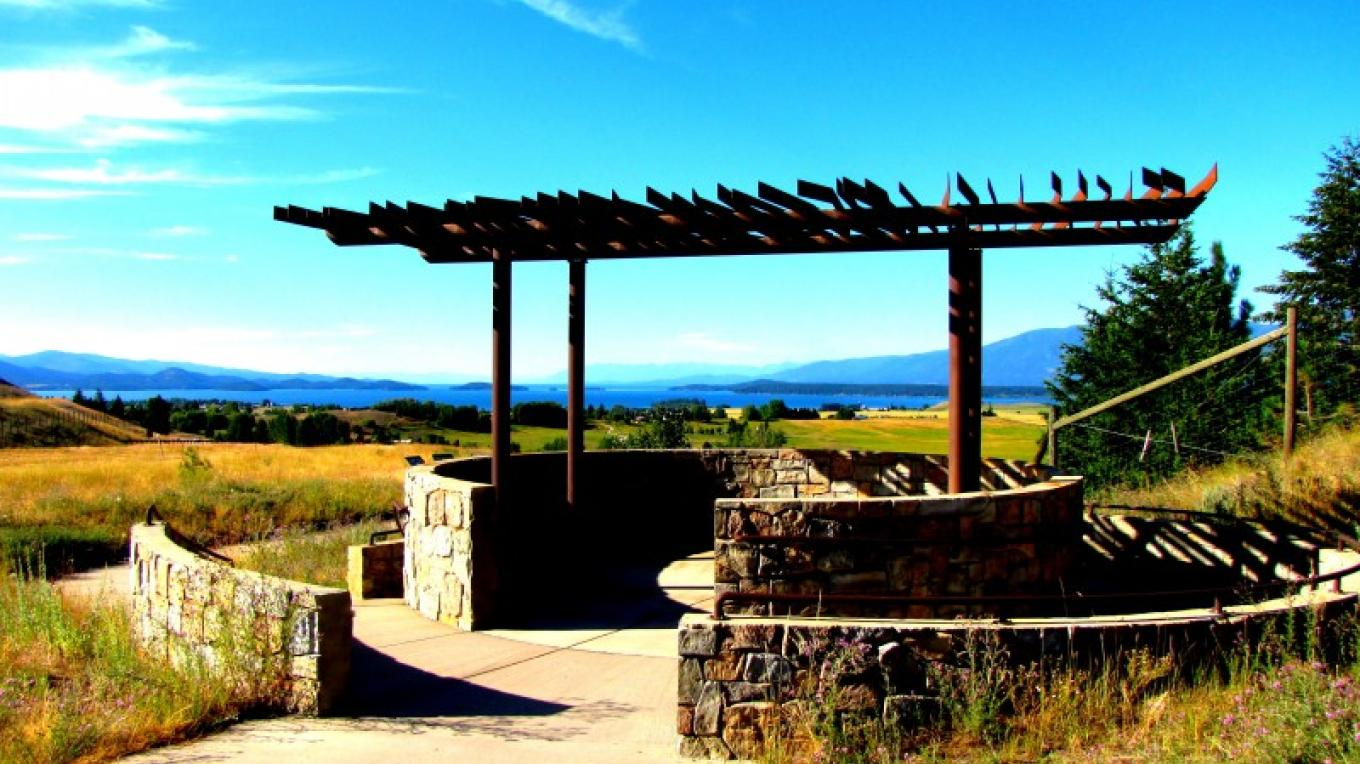 Scenic overlook above Polson, MT and Flathead Lake. – Sheena Pate