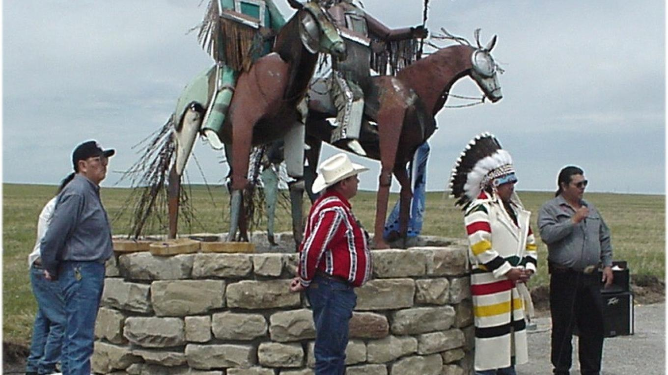 Public honoring the Metal Warriors located at each of the four entrances to the Blackfeet Indian Reservation – Stew Miller