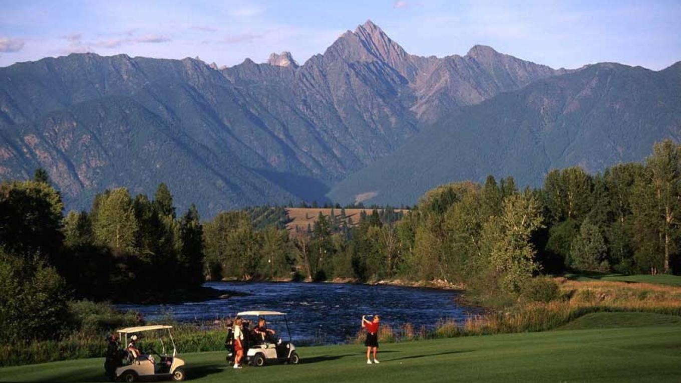 The St. Eugene Golf Resort and its dramatic Fisher Peak backdrop. – Don Weixl