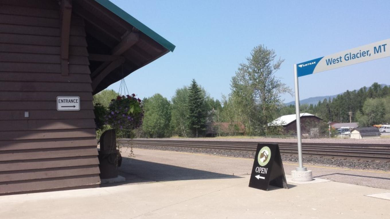 Glacier Conservancy Park Gift Store @ the Historic Belton Train Station near west entrance of Glacier National Park. Amtrak passengers hop on and off at this depot twice a day. – Sheena Pate
