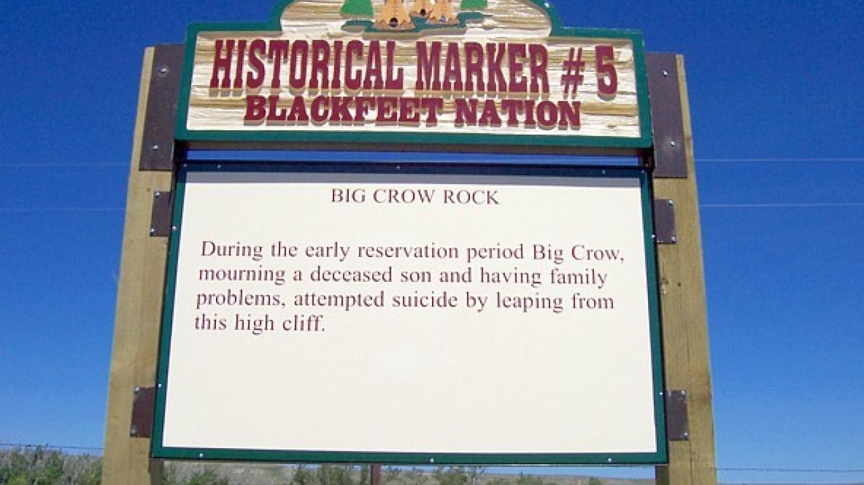 Big Crow Rock – Blackfeet Planning