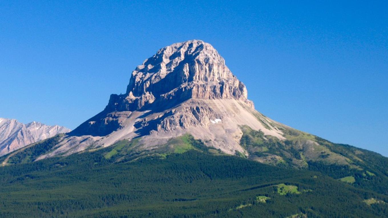 Crowsnest Mountain dominates Chinook Recreation Area. – David Thomas