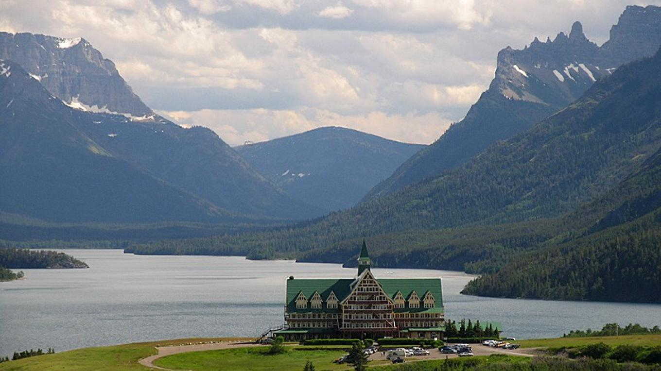 Prince of Wales Hotel perches above Upper Waterton Lake. – David Thomas