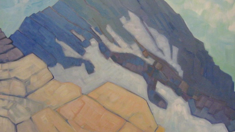 Artist: Andrea Brew Title: Jackson Glacier - Half Way – The Walking Man Frame Shop & Gallery