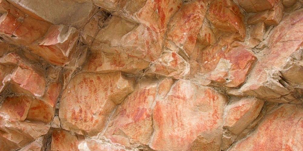 Painted rock face – Paul Raczka