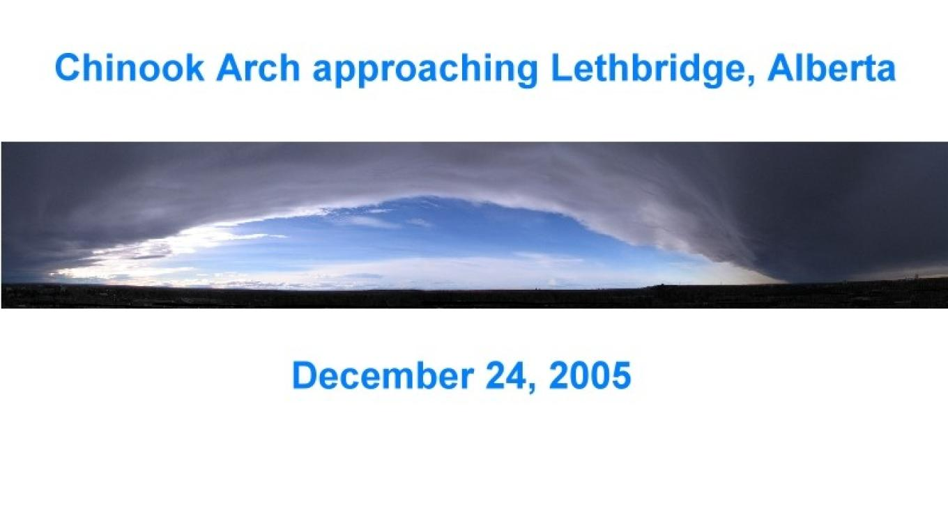 You don't often see a complete Chinook Arch so well defined as this one – gwd   G. Wayne Dwornik