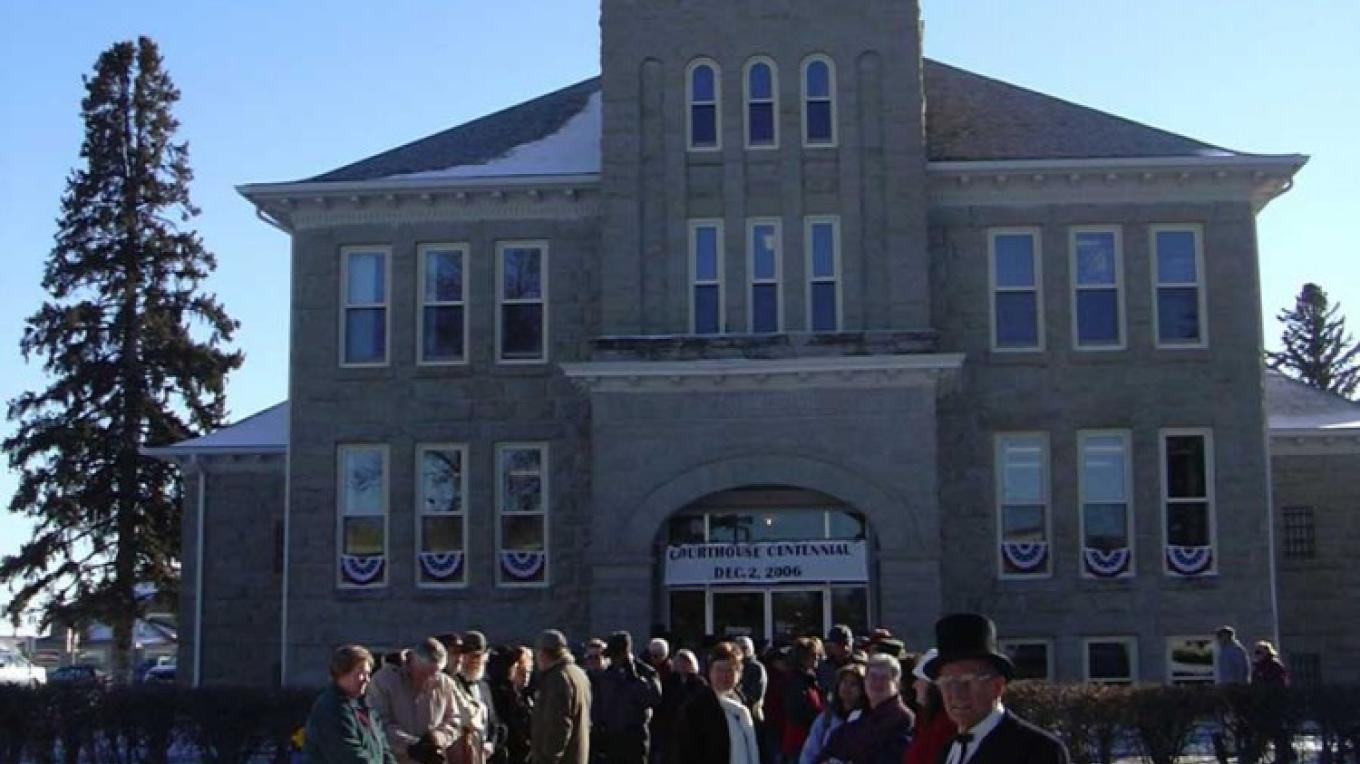 Teton County Courthouse Centennial Ceremony - 2006 – Choteau Acantha