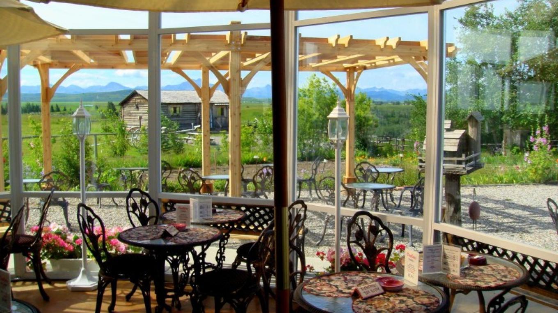 Enjoy tea in the sunroom or on the patio
