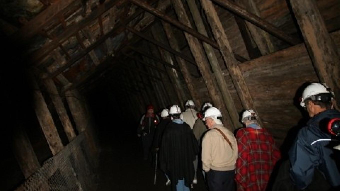 Inside the Bellevue Mine – Courtesy Alberta Culture and Community Spirit