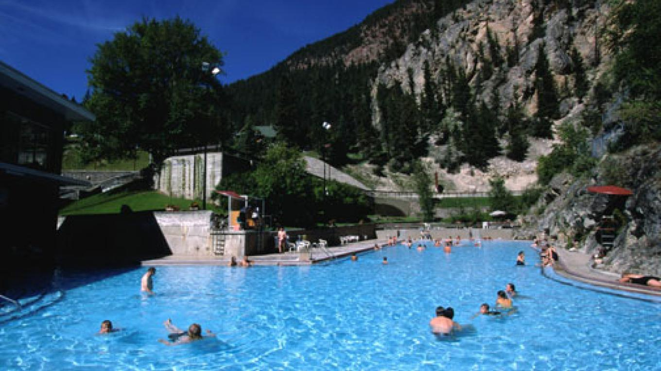 Soak in the naturally hot mineral waters of Radium Hot Springs. – Don Weixl