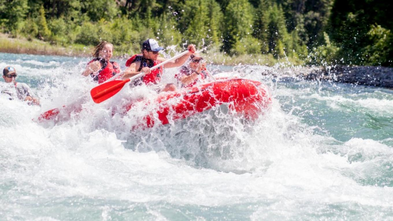Whitewater rafting on the Middle Fork of the Flathead River with Great Northern Raft Company. – Courtesy Great Northern Raft Company