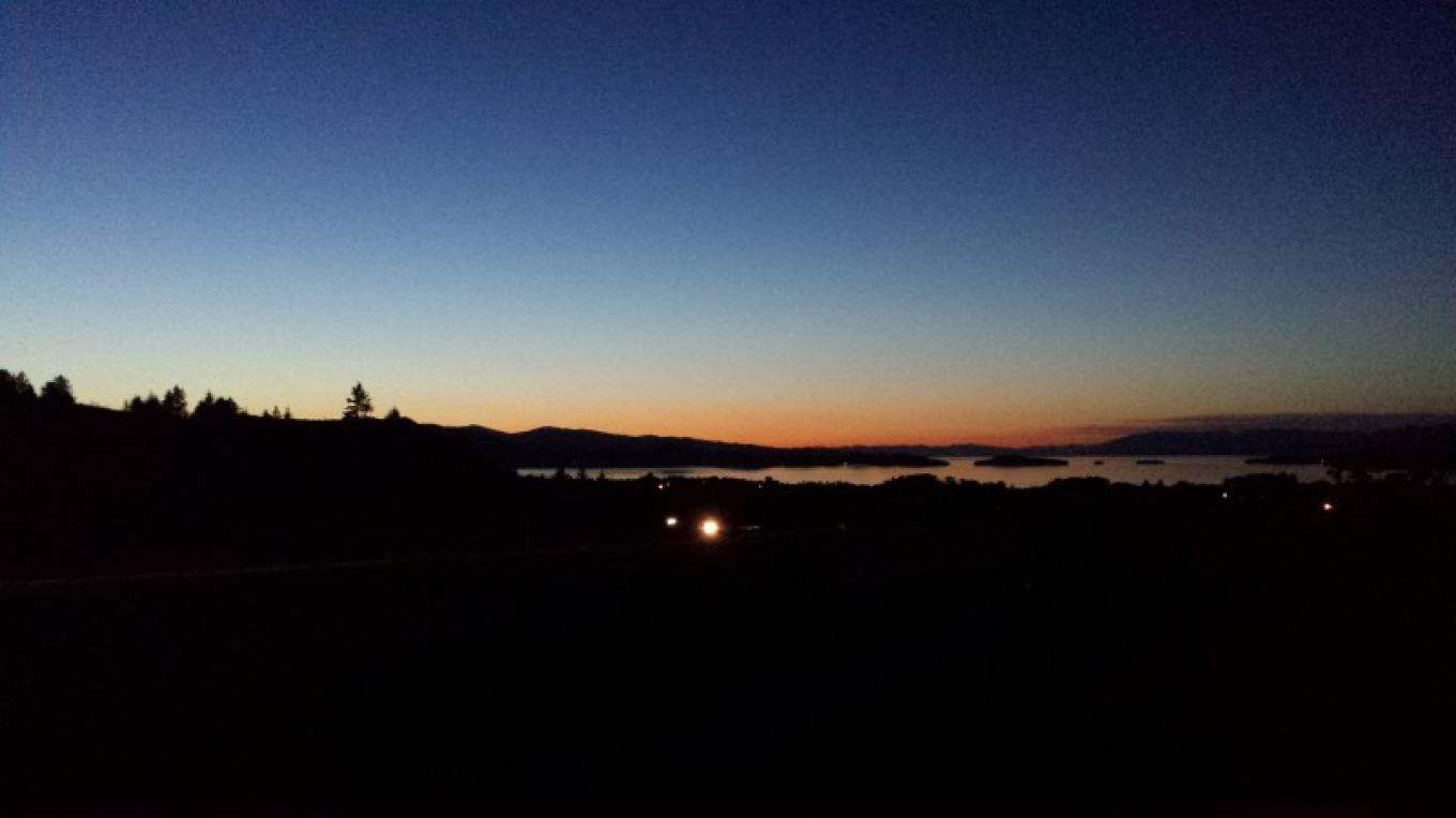 Overlooking Polson and Flathead Lake at sunset. – Sheena Pate