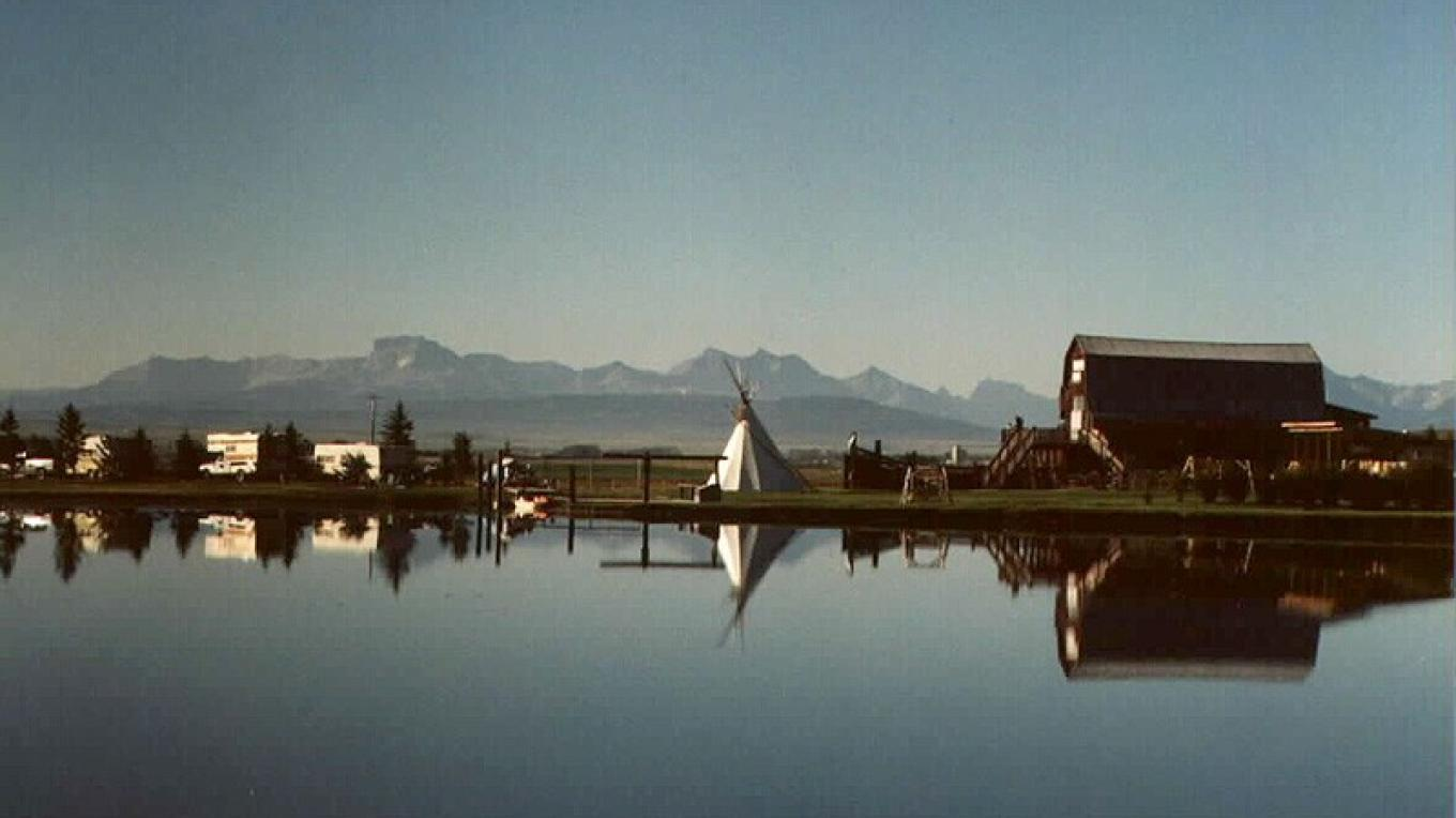 The Great Canadian Barn Dance and Family Campground commands a panoramic view of the Rockies. – Courtesy GCBD