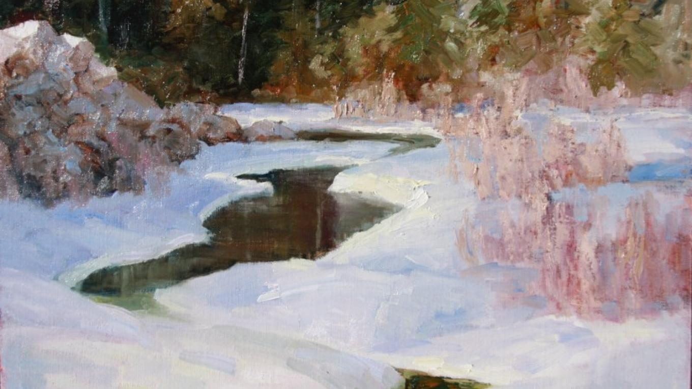 Blacktail Creek  18x24 - Near Gibson Dam – Linda Tippetts