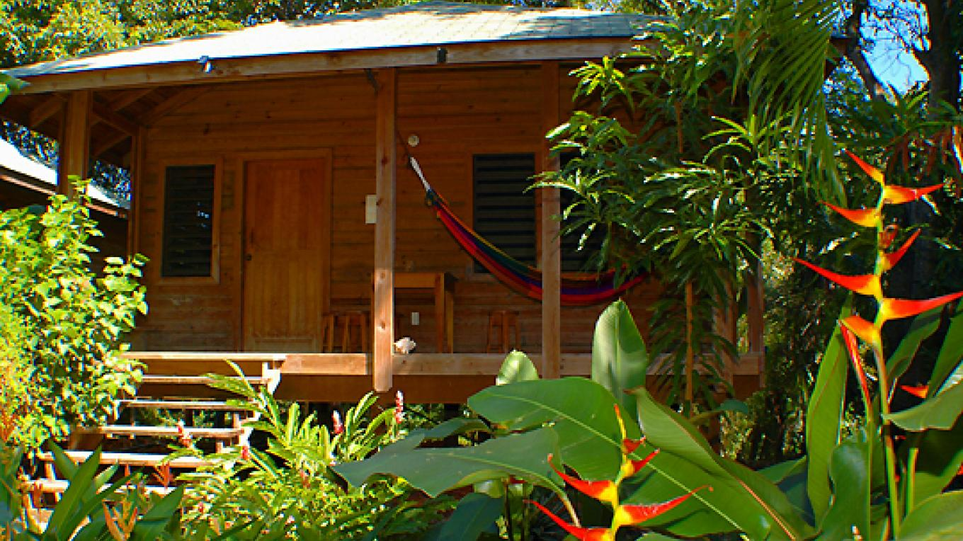 One of our garden cabins / Una de nuestras cabinas en el jardín – Shawn Jackson