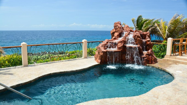 Casa Cascada's pool pump runs on solar power. – Ruth Healey-Elmore