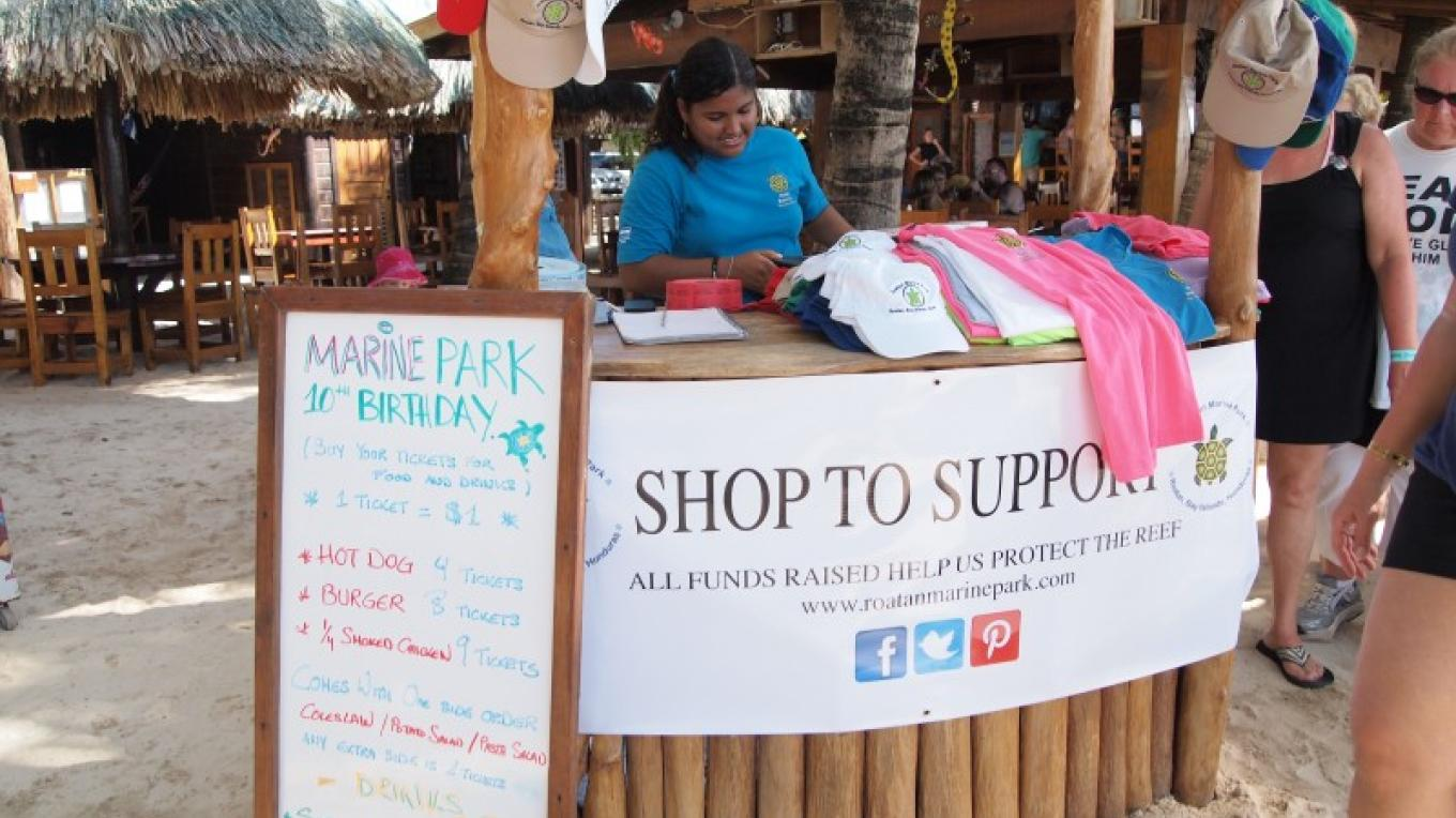 Fundraising and selling of RMP merchandise in the RMP Eco-Store, are just some of the methods used by the RMP to collect funds that help support their conservation efforts. – Manlio Martinez
