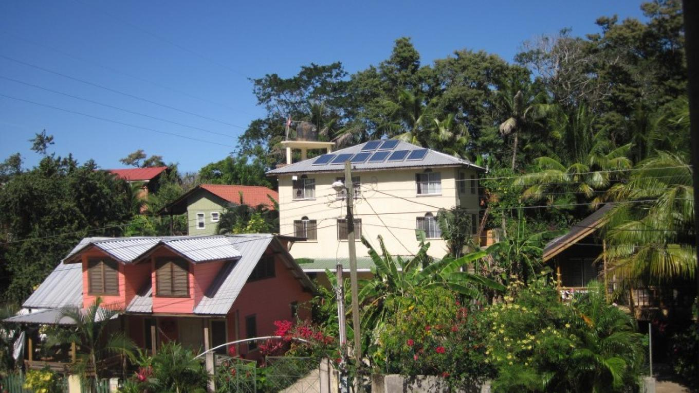 Our solar panels are the primary energy source for the hostel – Mel James