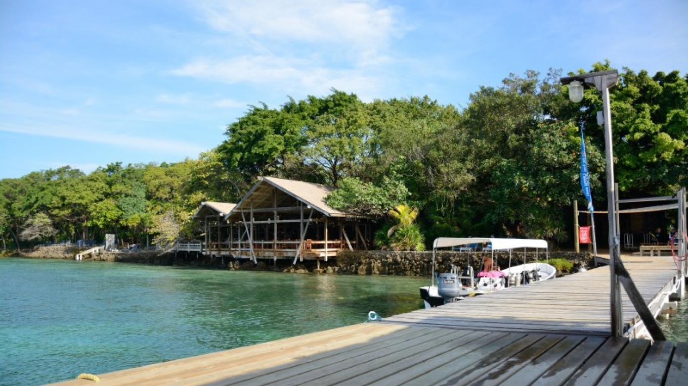 Our dock is steps away from the shop. – Manlio Martinez
