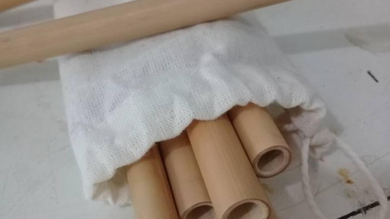 Reusable bamboo straws / Pajillas reusables de bambú – Utila Handmade Co-op