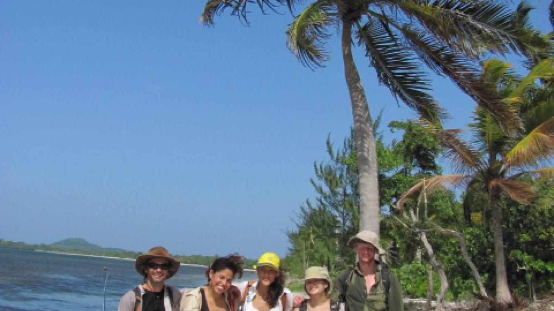 On Rock Harbour beach after a muddy day in the mangroves/ En la playa de Rock Harbour después de un día de lodo en los manglares. – Loren Bes