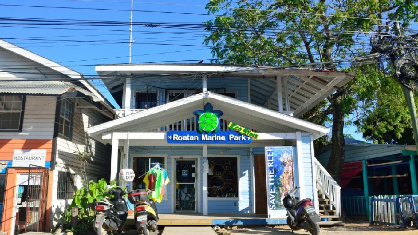 The Roatan Marine Park office in West End. – Manlio Martínez