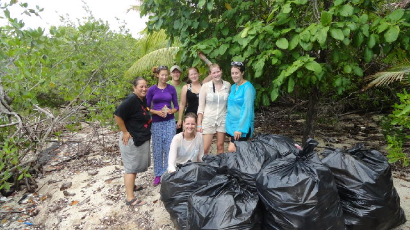 Beach Clean up activities/ Actividades de limpieza de playa – BICA volunteer