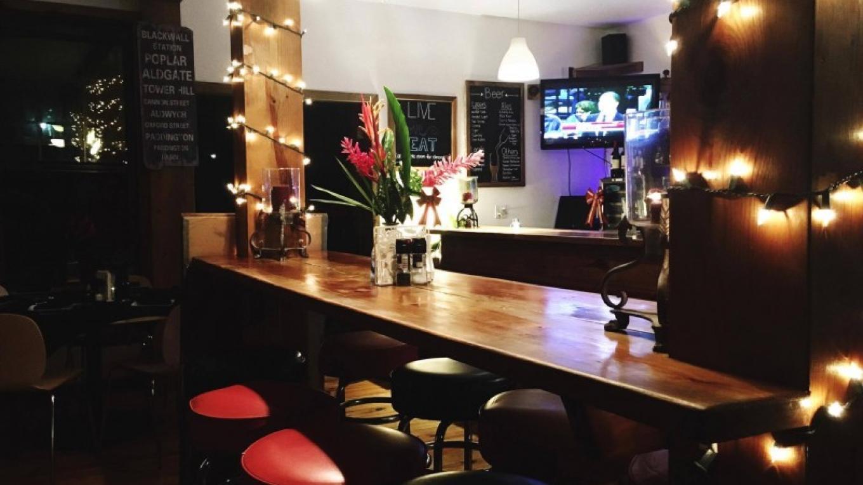 Laid back atmosphere by the bar – Matt Lazich