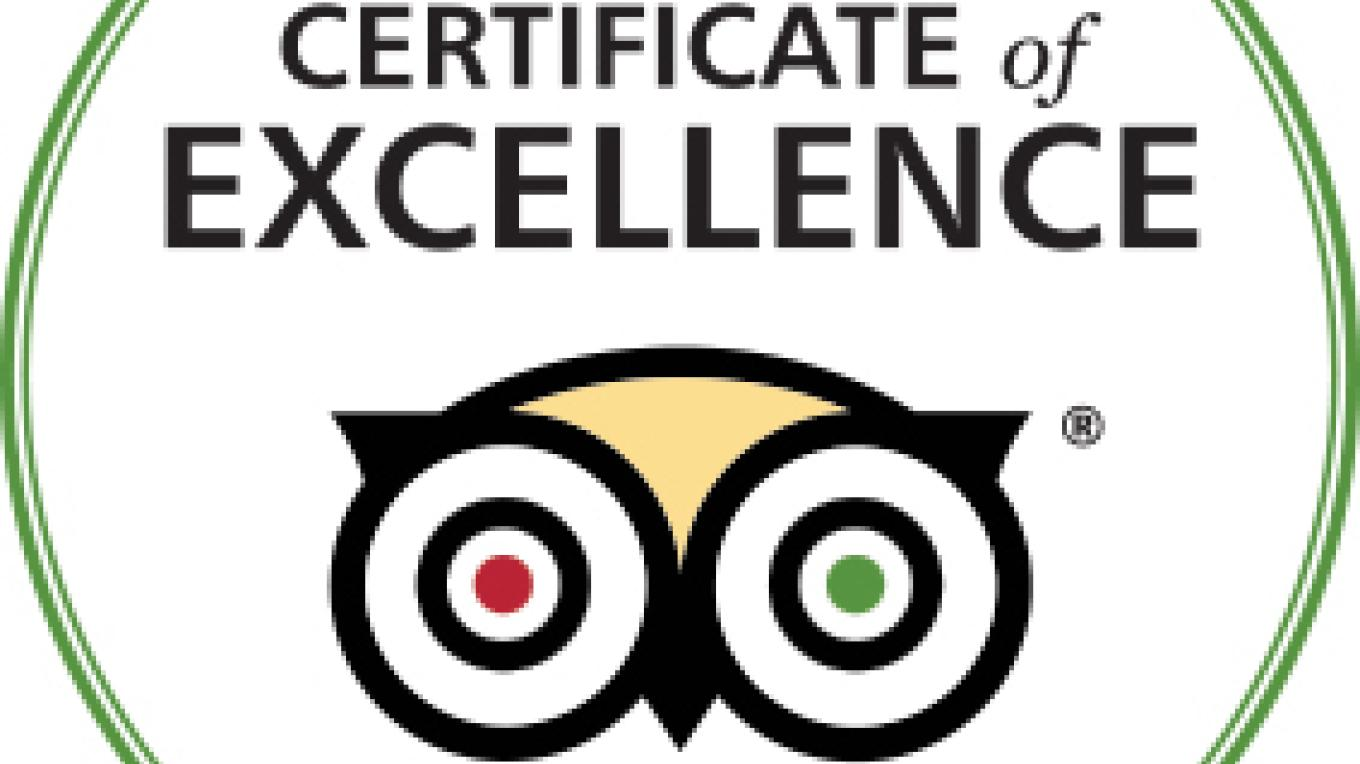 Winner of the 2016 Certification of Excellence for TripAdvisor – Saaya Sorrells-Weatherford