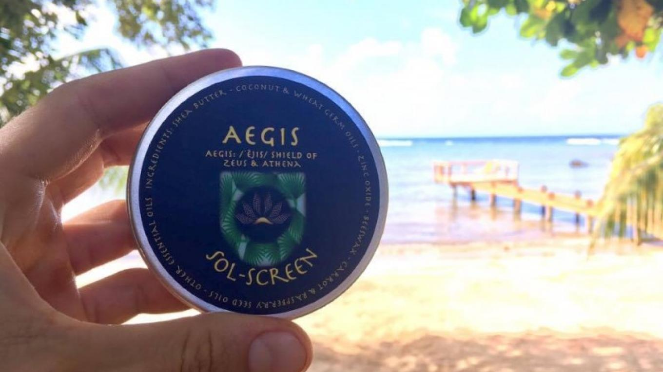 Aegis all natural Sol-Screen. Good for your mind, body, and soul. – Matt Lazich