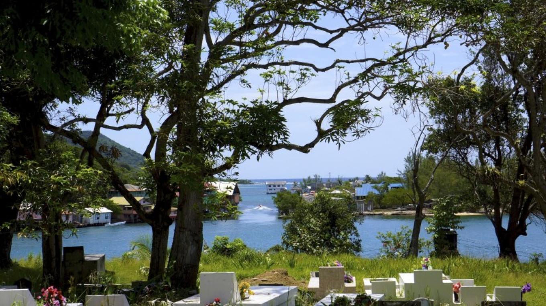 View of the houses across the water / Vista de las casas a través del agua – Carey Satin