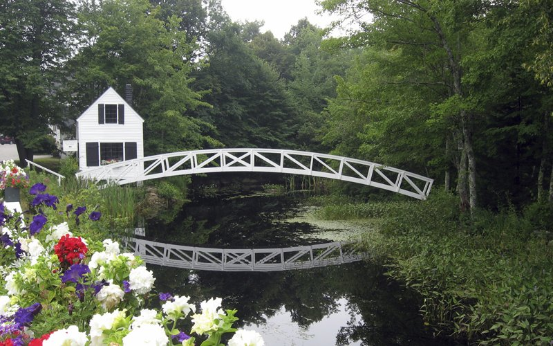 This pretty footbridge is one of the most photographed in Somesville.