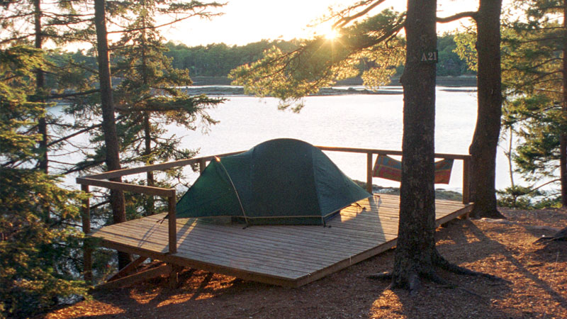 Camping on Somes Sound