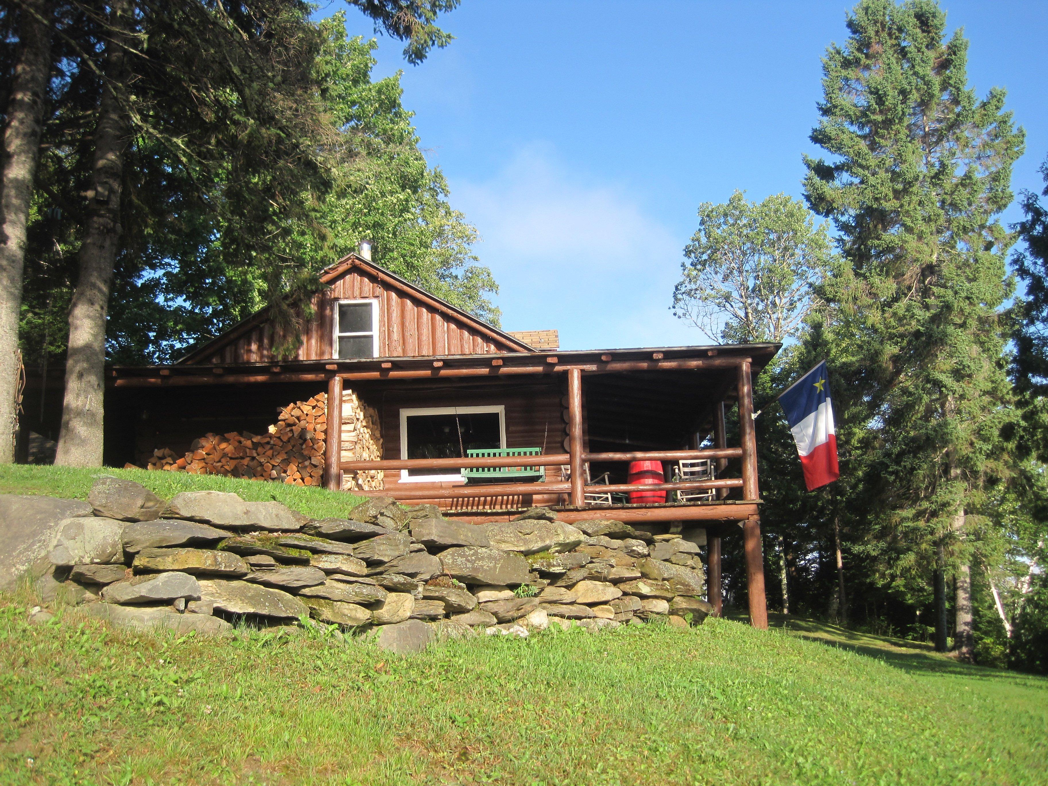 Historic log lodge, circa 1900.