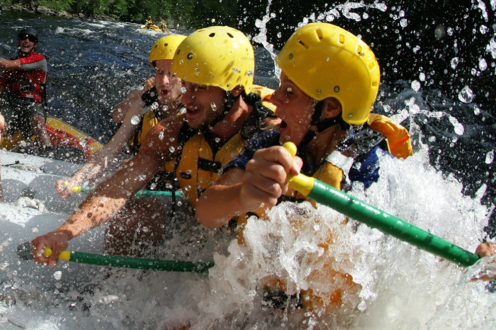 Rafting on the Kennebec River