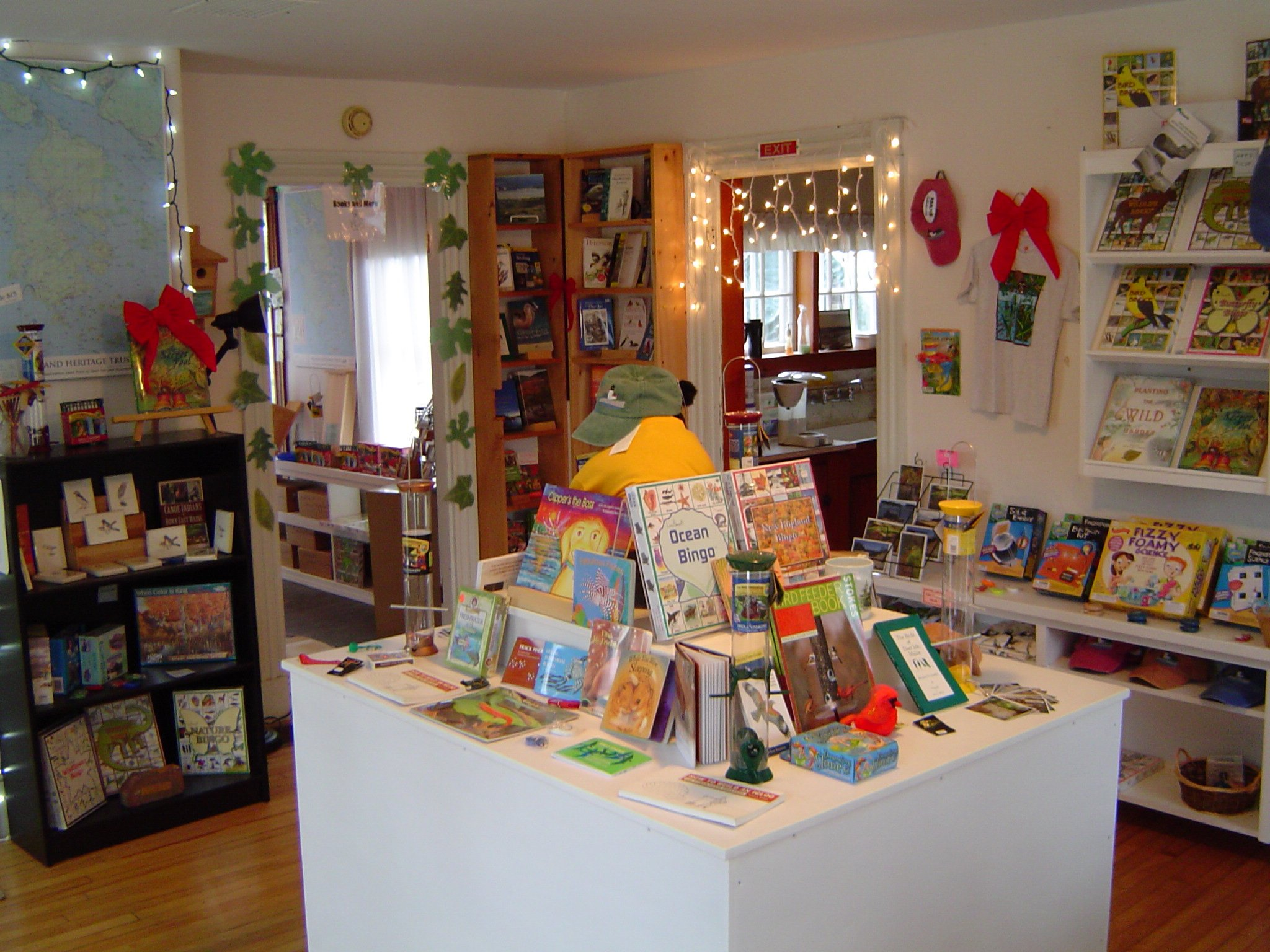Island Heritage Trust's Nature Shop, full of great things for all ages.  Maps, games, guides, toys, cards, books.