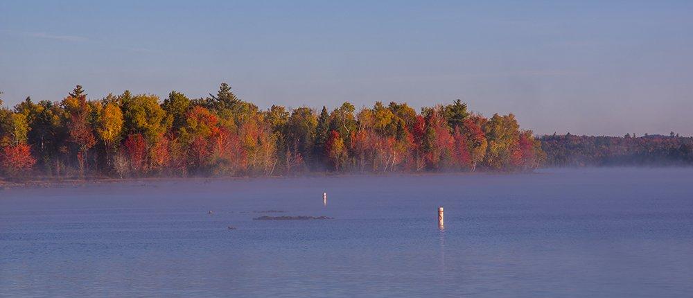 Moosehead Lake in autumn