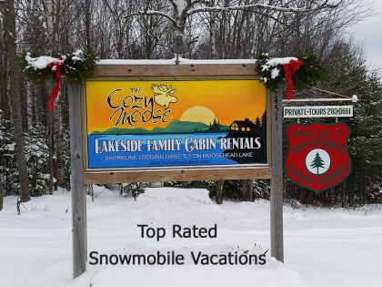 Winter Activities Moosehead Lake - Cozy Moose Lakeside Cabin
