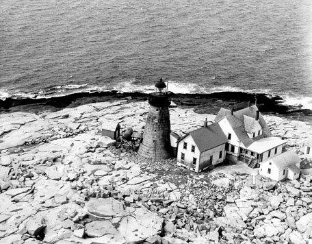Historic photo of Mount Desert Rock Light Station