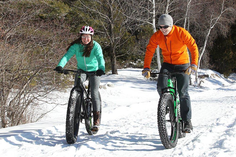 Fatbiking through a Maine winter