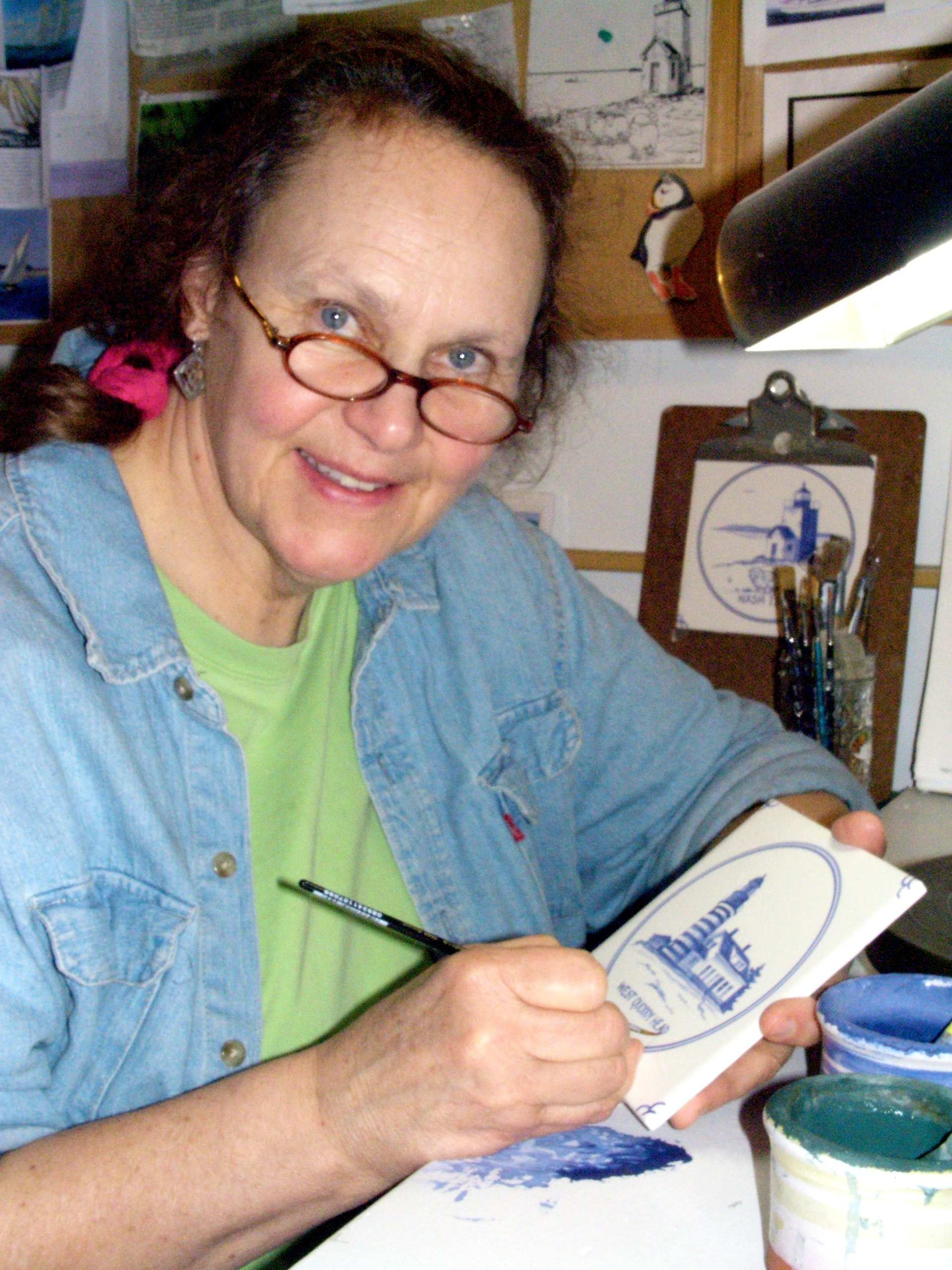 April V. Adams, potter and ceramic artist since 1970