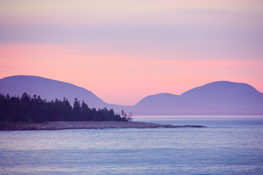 My favorite view north to Little Duck and the mountains of Acadia.