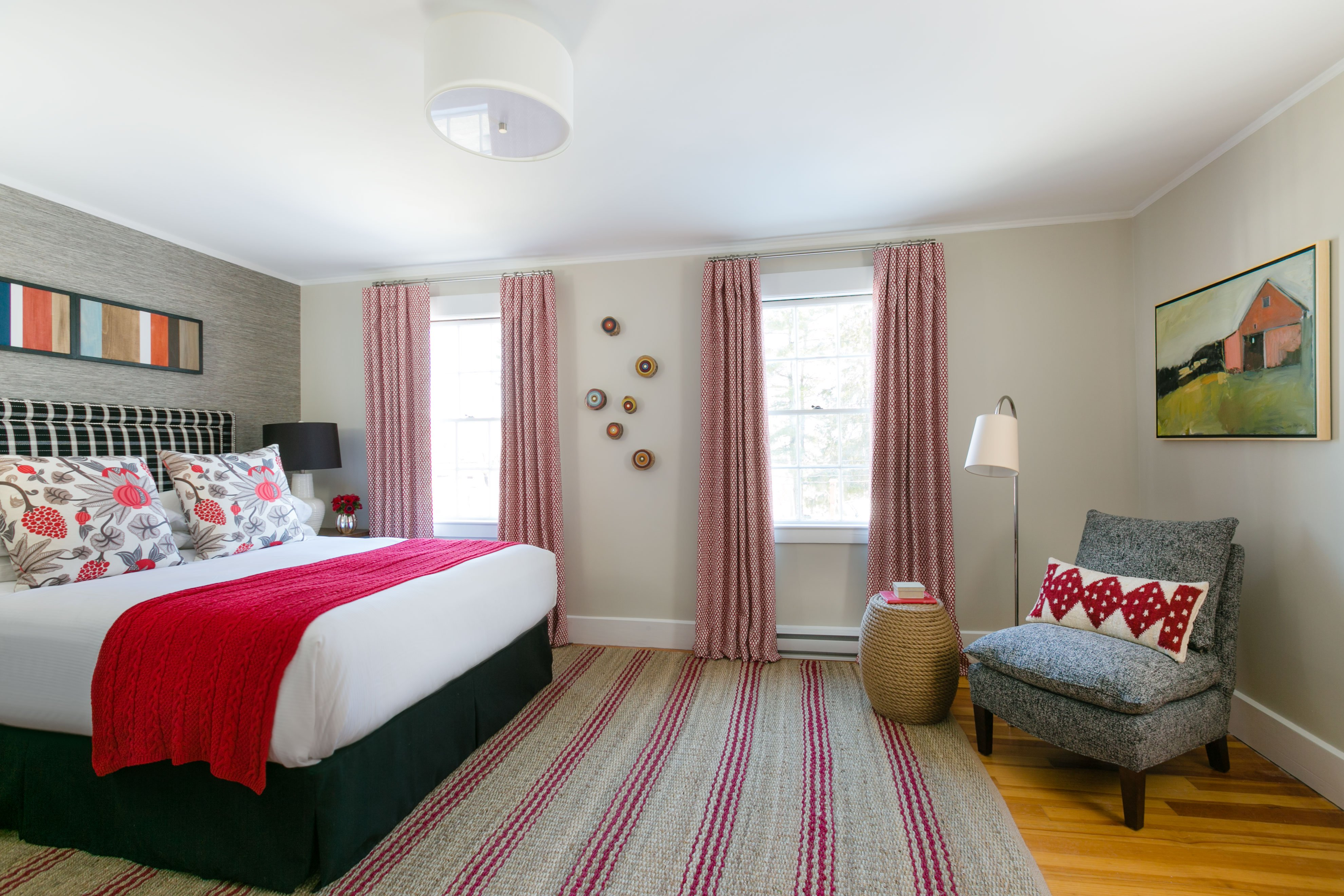 One of the rooms at Whitehall, a Camden Maine boutique hotel.