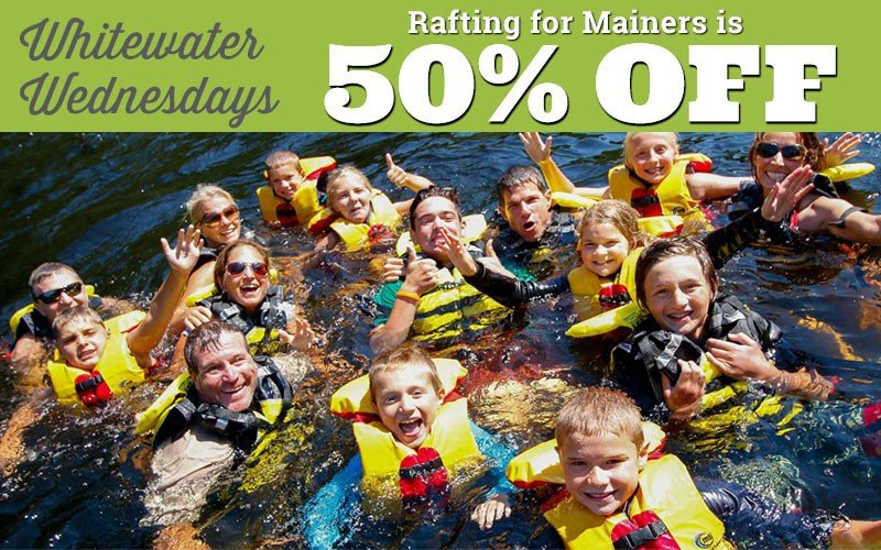 Mainers Get 50% Off Whitewater Rafting Every Wednesday!